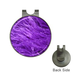 Purple Tresses Hat Clip with Golf Ball Marker