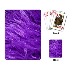 Purple Tresses Playing Cards Single Design