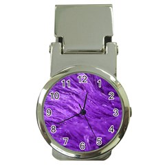 Purple Tresses Money Clip with Watch