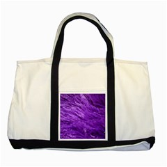 Purple Tresses Two Toned Tote Bag