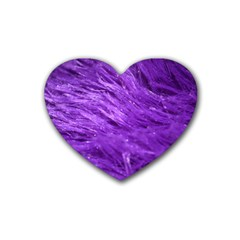 Purple Tresses Drink Coasters 4 Pack (Heart)