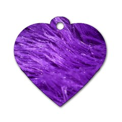 Purple Tresses Dog Tag Heart (One Sided)
