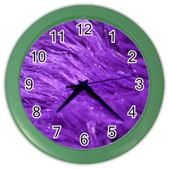 Purple Tresses Wall Clock (Color)
