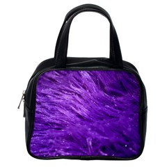 Purple Tresses Classic Handbag (one Side)