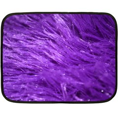 Purple Tresses Mini Fleece Blanket (Two Sided)