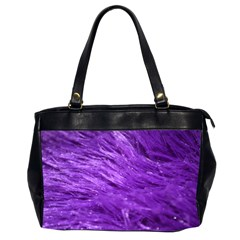 Purple Tresses Oversize Office Handbag (Two Sides)