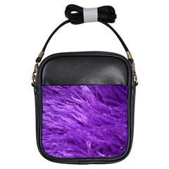Purple Tresses Girl s Sling Bag