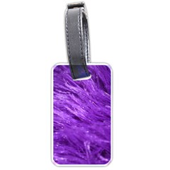 Purple Tresses Luggage Tag (Two Sides)