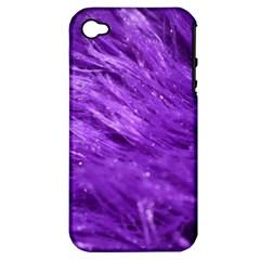 Purple Tresses Apple Iphone 4/4s Hardshell Case (pc+silicone)