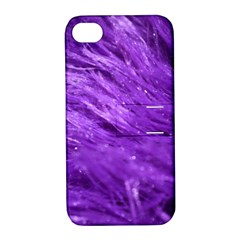 Purple Tresses Apple iPhone 4/4S Hardshell Case with Stand