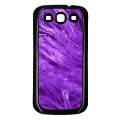 Purple Tresses Samsung Galaxy S3 Back Case (Black)