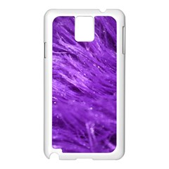 Purple Tresses Samsung Galaxy Note 3 N9005 Case (White)