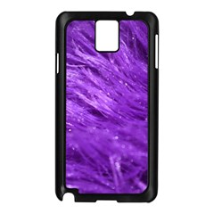 Purple Tresses Samsung Galaxy Note 3 N9005 Case (Black)
