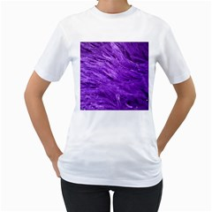 Purple Tresses Women s T-Shirt (White)