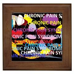 Chronic Pain Syndrome Framed Ceramic Tile