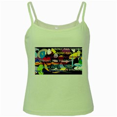 Chronic Pain Syndrome Green Spaghetti Tank