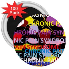 Chronic Pain Syndrome 3  Button Magnet (100 pack)