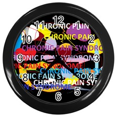 Chronic Pain Syndrome Wall Clock (Black)