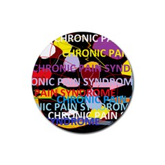 Chronic Pain Syndrome Drink Coasters 4 Pack (Round)