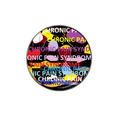 Chronic Pain Syndrome Golf Ball Marker 4 Pack (for Hat Clip)