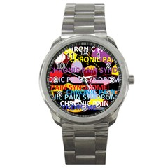 Chronic Pain Syndrome Sport Metal Watch