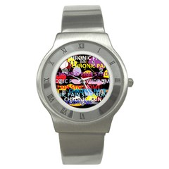 Chronic Pain Syndrome Stainless Steel Watch (slim)