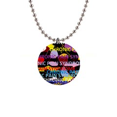 Chronic Pain Syndrome Button Necklace