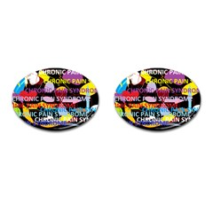 Chronic Pain Syndrome Cufflinks (Oval)
