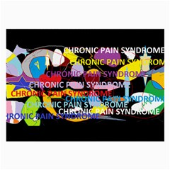 Chronic Pain Syndrome Glasses Cloth (Large, Two Sided)