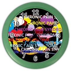 Chronic Pain Syndrome Wall Clock (Color)