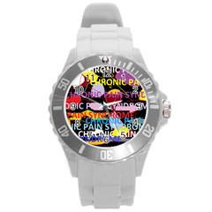 Chronic Pain Syndrome Plastic Sport Watch (Large)