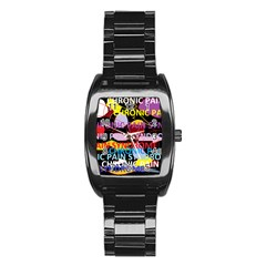 Chronic Pain Syndrome Stainless Steel Barrel Watch
