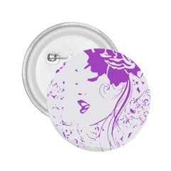 Purple Woman of Chronic Pain 2.25  Button