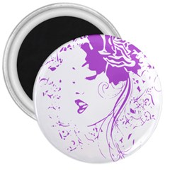 Purple Woman Of Chronic Pain 3  Button Magnet