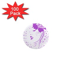 Purple Woman of Chronic Pain 1  Mini Button Magnet (100 pack)