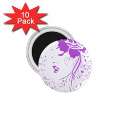 Purple Woman Of Chronic Pain 1 75  Button Magnet (10 Pack)