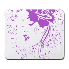 Purple Woman of Chronic Pain Large Mouse Pad (Rectangle)