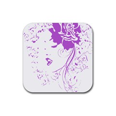 Purple Woman Of Chronic Pain Drink Coaster (square)