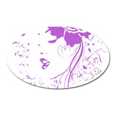 Purple Woman of Chronic Pain Magnet (Oval)