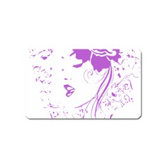 Purple Woman of Chronic Pain Magnet (Name Card)