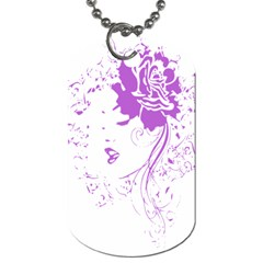 Purple Woman of Chronic Pain Dog Tag (One Sided)