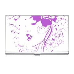 Purple Woman of Chronic Pain Business Card Holder
