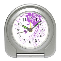 Purple Woman Of Chronic Pain Desk Alarm Clock
