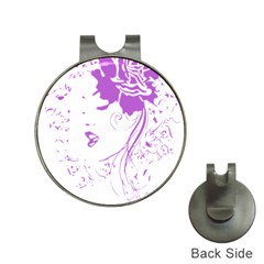 Purple Woman Of Chronic Pain Hat Clip With Golf Ball Marker