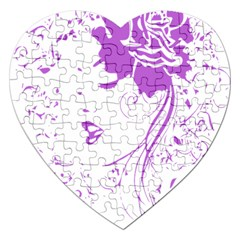 Purple Woman of Chronic Pain Jigsaw Puzzle (Heart)