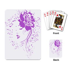 Purple Woman Of Chronic Pain Playing Cards Single Design