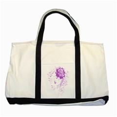 Purple Woman of Chronic Pain Two Toned Tote Bag