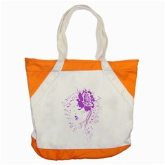Purple Woman of Chronic Pain Accent Tote Bag