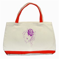 Purple Woman Of Chronic Pain Classic Tote Bag (red)