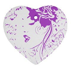 Purple Woman Of Chronic Pain Heart Ornament (two Sides)